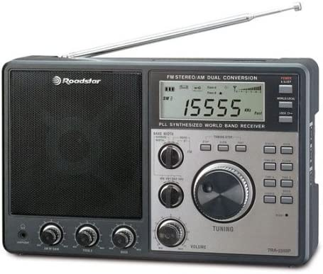 Roadstar TRA-2350P Tragbarer Weltempf/änger schwarz PLL-Tuner, FM Tuner, LC-Display