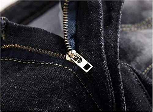Uomo Jeans Ssig Denim I Dritto Ne Cotone Especial Alla Nero Self Classici Vecchi Da coltivazione Moda Hanno Originali In Cowboy Estilo YnYqw5frP