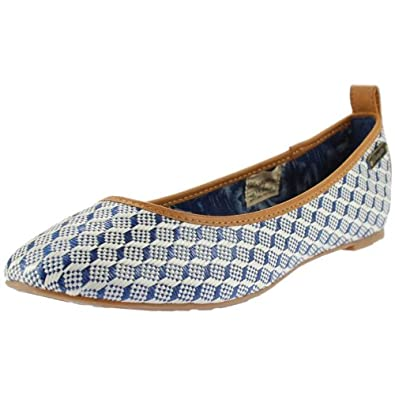 cheap for discount 8a37d fe977 Wrangler Bluewaii Ballerina Ladies Shoes Blue / White