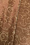 Fancy Linen Brown Jacquard Heavy Weight Tablecloth