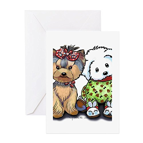 (CafePress - Yorkie And Maltese - Greeting Card, Note Card, Birthday Card, Blank Inside Matte)
