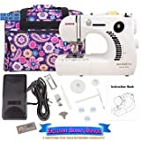 janome 661 - Janome 661G Jem Gold Plus Trim and Stitch Sewing Machine Bundle with Tote Bag
