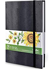 Ohuhu Art Sketchbook Marker Pads, 210x210mm/210x297mm groot papierformaat, 120lbs/200GSM Heavy Smooth Tekenpapier, 78 velen/156 pagina's, Hardcover Sketch Book, speciaal ontworpen voor Alcohol Markers
