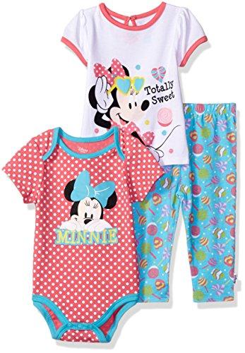 Disney Minnie 3 Piece T Shirt Bodysuit