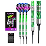 Red Dragon Peter Wright Snakebite Mamba - 18g - 90% Tungsten Soft-Tip Darts with Flights, Shafts & Red Dragon Checkout Card