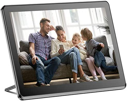 Digital Picture Frame WiFi 10 Inch Digital Photo Frame Full HD 1920x1080 IPS Touch Screen Display, Auto-Rotate, Share Photos and Videos by means of App, Email, Cloud, Stereo Video Music Player, Best Gift