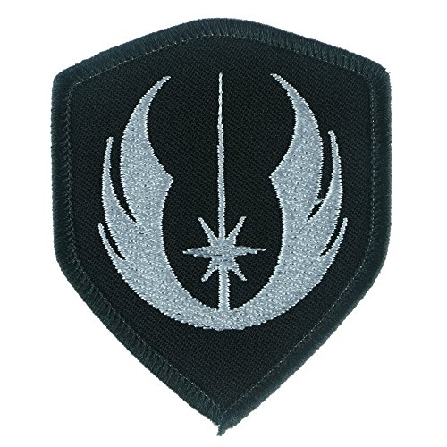 [Iron Sew On Applique Patch : Star Wars Jedi Order Galactic Republic (Black/White)] (Diy Rogue Costume)