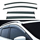 LQQDP Set of 4 Front+Rear Smoke Tint With Chrome
