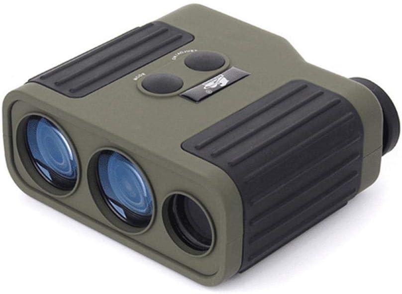 RENYAYA Telémetro, telémetro láser Golf, 1500 Metros precisión es de +/- 1 Metro, 8 Veces óptico Resistencia y la interferencia Resistencia a la caída de la Lente, Adecuado para la miopía,Army Green