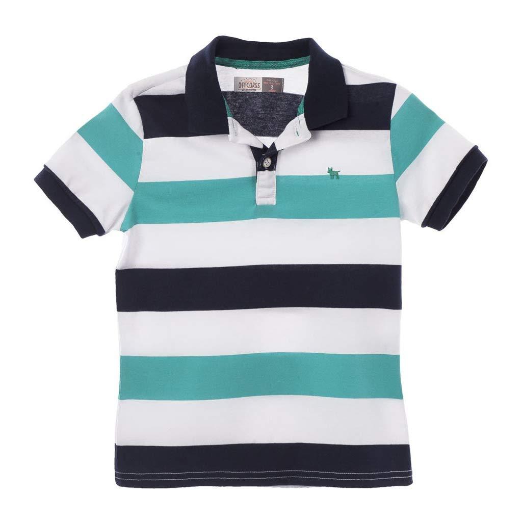 Amazon.com  OFFCORSS Big Boys Short Sleeve Polo Shirts for Kids Camiseta  Polo para Niños  Clothing 5bbcdd29d773a