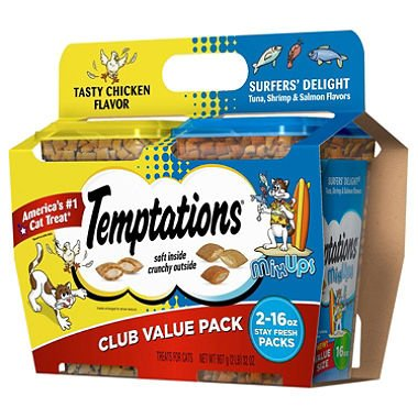 Temptations Cat Treats, Club Value Pack (16 oz., 2 pk.) (pack of 6)