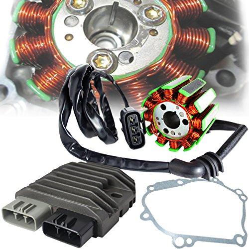 eMotorcycleUSA OEM Replacement Stator + Regulator Refectifier + Gasket for 04-08 Yamaha YZF-R1 / FZ1 / FZ8