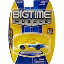 2008 - Jada Toys - BigTime Muscle - Wave 15 - 1969 Corvette ZL-1 - Collector Series #166 - Numbered Chassis - New - Rare - Out of Production - 1:64 Scale Die Cast - Collectible