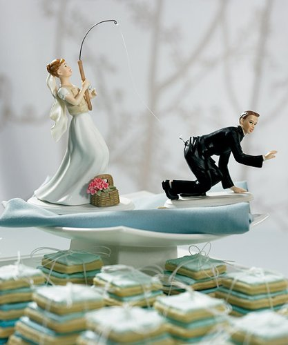 fishing wedding cake topper