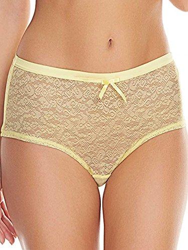 Freya Women's Plus Size Fancies Hipster Short, Lemon Sorbet, L