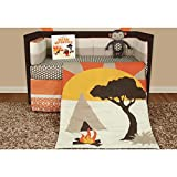 Snuggleberry Baby African Dream 6 Piece Crib Bedding Set with Storybook