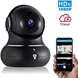 Littlelf 1080P IP Wireless Home Camera - Security Indoor Camera for Baby/Pets/Home/Office Monitor with Pan/Tilt/Zoom, Night Version&2-Way Audio&Cloud Service Available (Black)