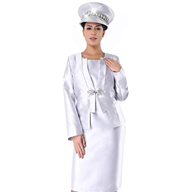 914af132a Kueeni Women Church Suits With Hats Church Dress Suit For Ladies Formal  Church Clothes,Suit