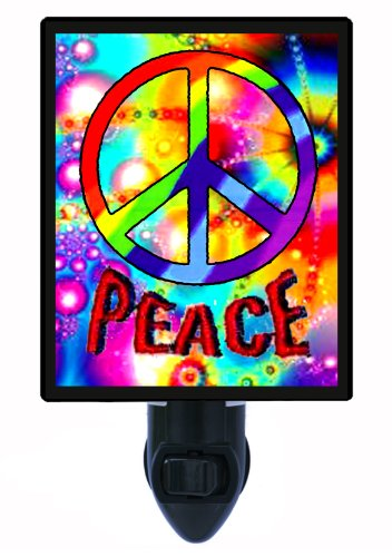 Night Light - Peace Sign (Vertical) - 60's Symbol