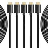 Micro USB Cable, Tronsmart [5 Pack] Durable 20AWG Charge Cable for Galaxy S7, S7 Edge, Nexus, LG, Motorola and More (Black, 1ft x 1,3.3ft x 3,6ft x 1)