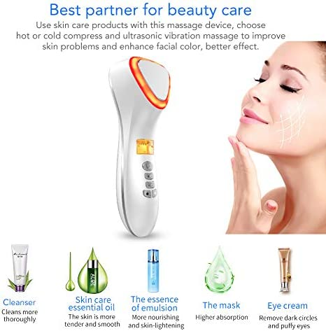 Facial Massager Hot And Cool Skin Care Device Portable Handheld Vibration Face Care Beauty Device Skin Calm Anti Wrinkle Promote Cream And Absorption White Amazon Ca Beauty