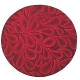 Homemusthaves-Hand Made Wool Rug Rugs Carpet Round 8 ft feet Paisley Red Burgundy Modern