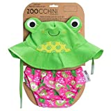 Zoocchini Swim Diaper and Sun Hat Set Frog- 12-24m, Large