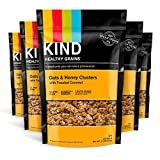 KIND Healthy Grains Clusters, Oats and Honey with Toasted Coconut Granola, Gluten Free, 11 Ounce Bags, 6 Count