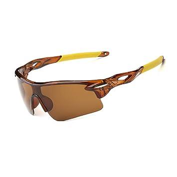 HLHN Herren Outdoor Sport Radfahren Fahrrad Fahrrad Reiten Sonnenbrille Brillen UV400 Objektiv (Gelb) j5xJfVloR