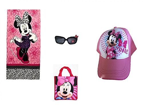 Disney Minnie Mouse Beach Towel Fashion Sunglasses PLUS Baseball Cap - Sunglasses Michelle