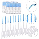 Bloomeet 2 Cases (80 PCS) Highly-Elastic Disposable Teeth Cleaners Interdental Brush Dental Hygiene Brushes Tooth Picks Oral Care Soft Toothpick
