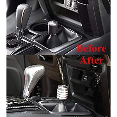 ZTYCKJ Gear Shifter Knob Stick Head Lever Cover Trim for Toyota 4Runner TRD Pro Offroad Car Styling Accessoies 2010-2020 2020 (Silver): Automotive