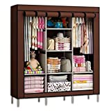Anva 4.1 feet (88130B) Folding Wardrobe Cupboard Almirah Foldable Storage Rack Collapsible Cabinet