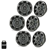 Kicker 6.5 Charcoal Marine Speakers (Qty 6) 3 Pairs OEM Replacement Speakers