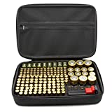 Surdar 205+ Batteries Organizer Storage Bag Hard Case Carrying Case Box Holder- Holds AA AAA C D 9V 3V with Battery Tester BT-168 (Not Included Batteries)