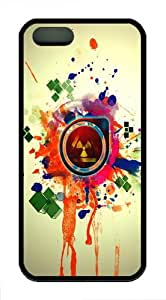 Apple iPhone 5/5S Cases and Cover Abstract Nuclear Explosion Art TPU Rubber Case for iPhone 5 and iPhone 89S - Black