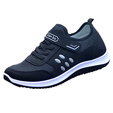 c5feaf147791 Sale! Teresamoon Men Outdoor Mesh Casual Solid Color Sport Shoes Runing  Breathable Shoes Sneakers Black