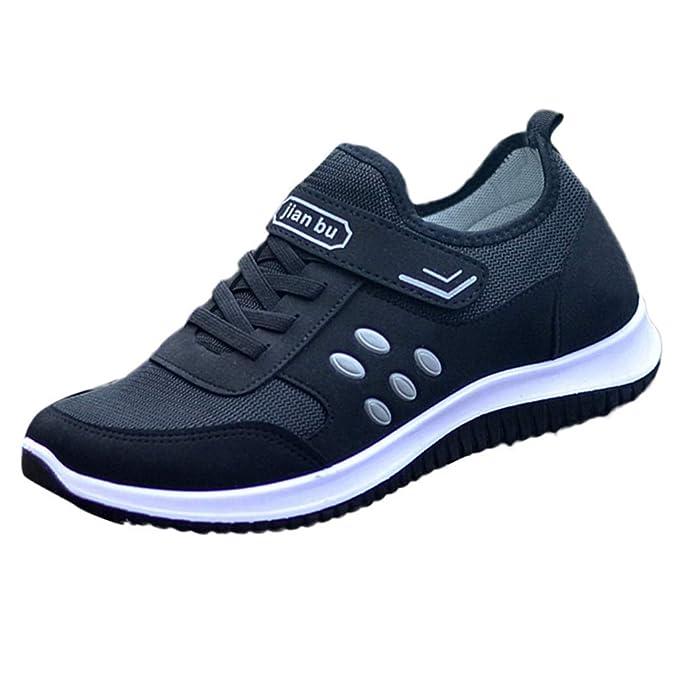 beautyjourney Zapatillas de Deporte de Malla para Mujer Zapatos para Correr Zapatos Deportivos de Color sólido Calzado Casual Transpirable para Correr: ...