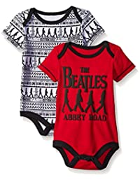 The Beatles Baby 2-Pack Bodysuit, Red, 3-6 Months