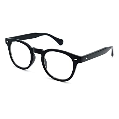 afb60b295685 Glasses neutral KISS - style MOSCOT mod. DEPP - optical frame VINTAGE  Johnny Depp man woman CULT unisex - BLACK  Amazon.co.uk  Clothing