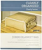 "Jumbo Clothes Bag - Heavy Duty Vinyl Storage Bag (Clear) (25"" x 21"" x 11"")"