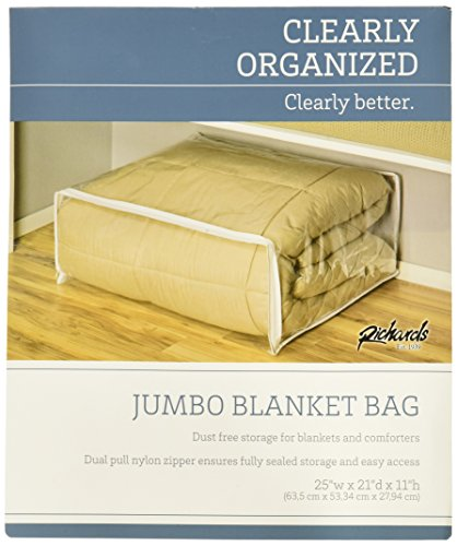 Richards Homewares Clear Vinyl Jumbo Blanket Bag (4-Pack) by Richards Homewares