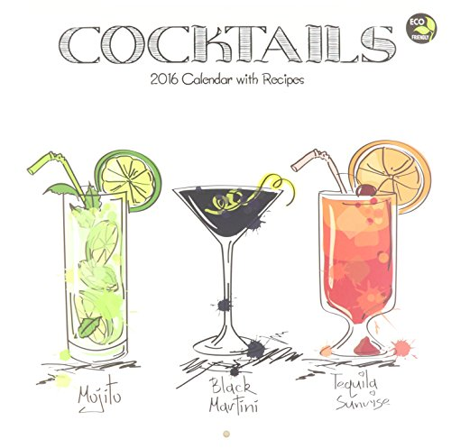 Cocktails Wall Calendar by TF Publishing 2016