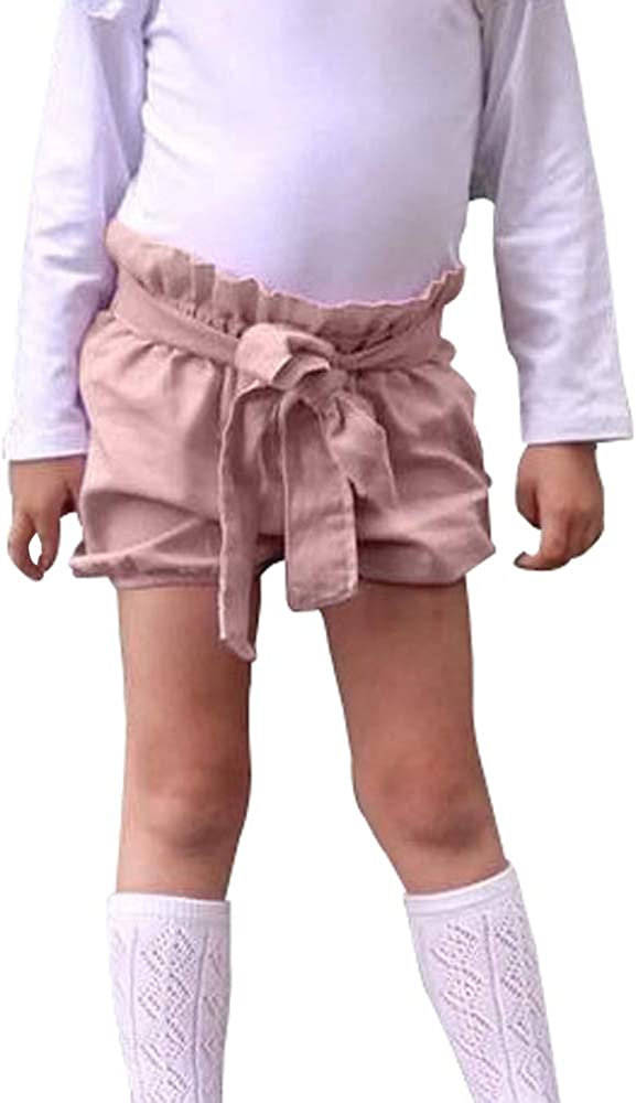 Ding Dong Baby Toddler Kid Girl Summer Cotton Bowknot Shorts