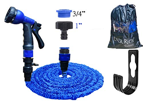 Ever Rich  100 Feet Newest Expandable Strongest Hose With & 8 Pattern Spray...