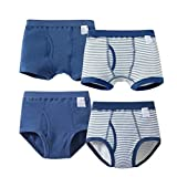 1931trendy 100% Cotton Boys Underwear Little Boy's Brief 4 Packs Navy 20