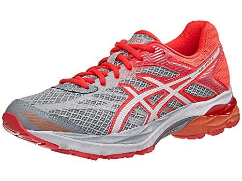 ASICS Women's Gel Flux 4 Running Shoe, Mid GreyWhiteDiva Pink, 7.5 M US
