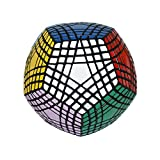 I-xun® Perfect Magic Cube Smooth Dodecahedron Cube Megaminx Cube Black (7x7)