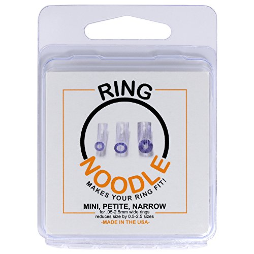RING NOODLE: Ring Size Reducer | Ring Guard | Ring Size Adjuster. Size: Mixed for Thin Rings, 1 Mini, 1 Petite, 1 Narrow…