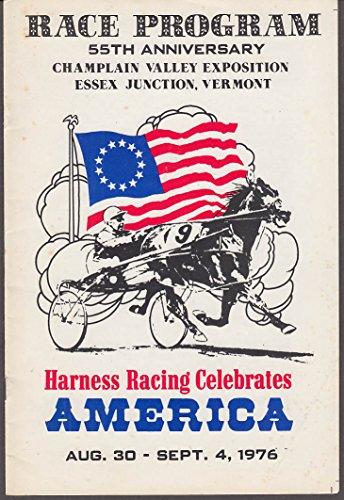 Champlain Valley Expo Harness Racing Program 8/31 1977 Essex Jct VT